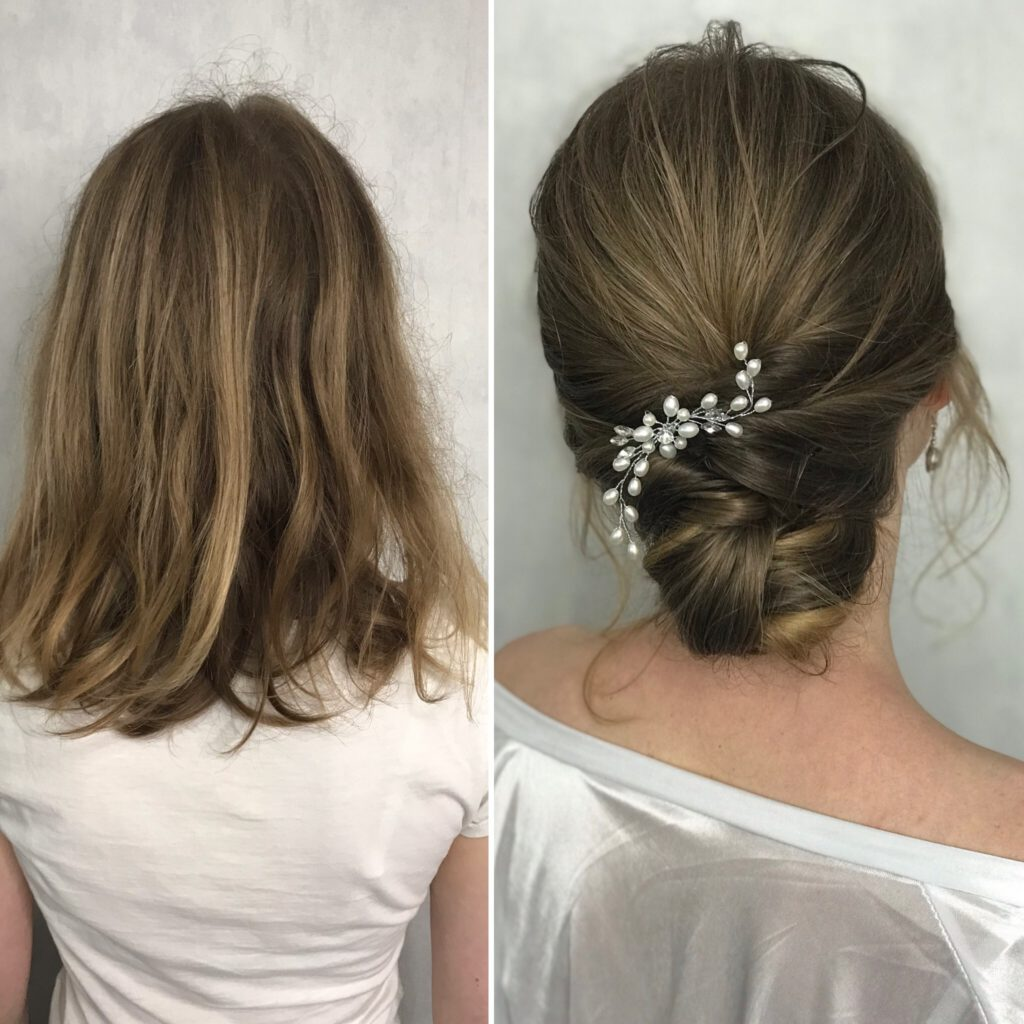 Hairstyling Before and After